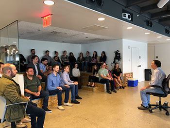Teaching a Tech Company Meditation ClassesTeching Corporate Meditation Class in NYC